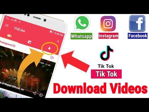 VidLike - How to Download Musically Video, Facebook Video, Instgram ,Vigo Video, WhatsApp Status