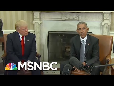 President Obama 'Encouraged' By Donald Trump's Meeting | Andrea Mitchell | MSNBC