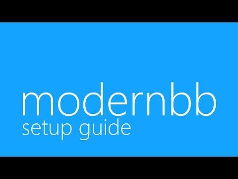 ModernBB Install / Setup Tutorial (Bootstrap Forum)