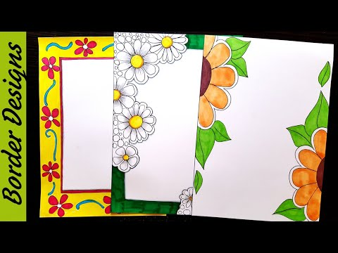 Simple flower border designs for school projects download
