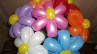 Цветок (Ромашка маленькая) из шаров шдм ( Flower оf balloons)