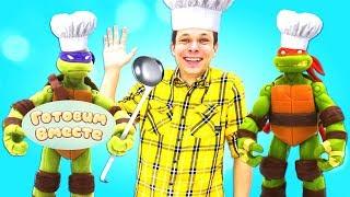 Черепашки-ниндзя илучшие рецепты — Готовим вместе ВКУСНЯШКИ! —Видео для детей