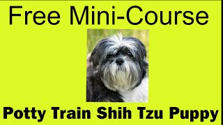 **WOW** Potty Train Shih Tzu Puppy - Free Mini-course on Potty Train Shih Tzu Puppy