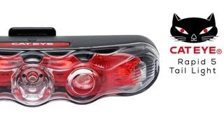Cateye Rapid 5 Tail Light Features