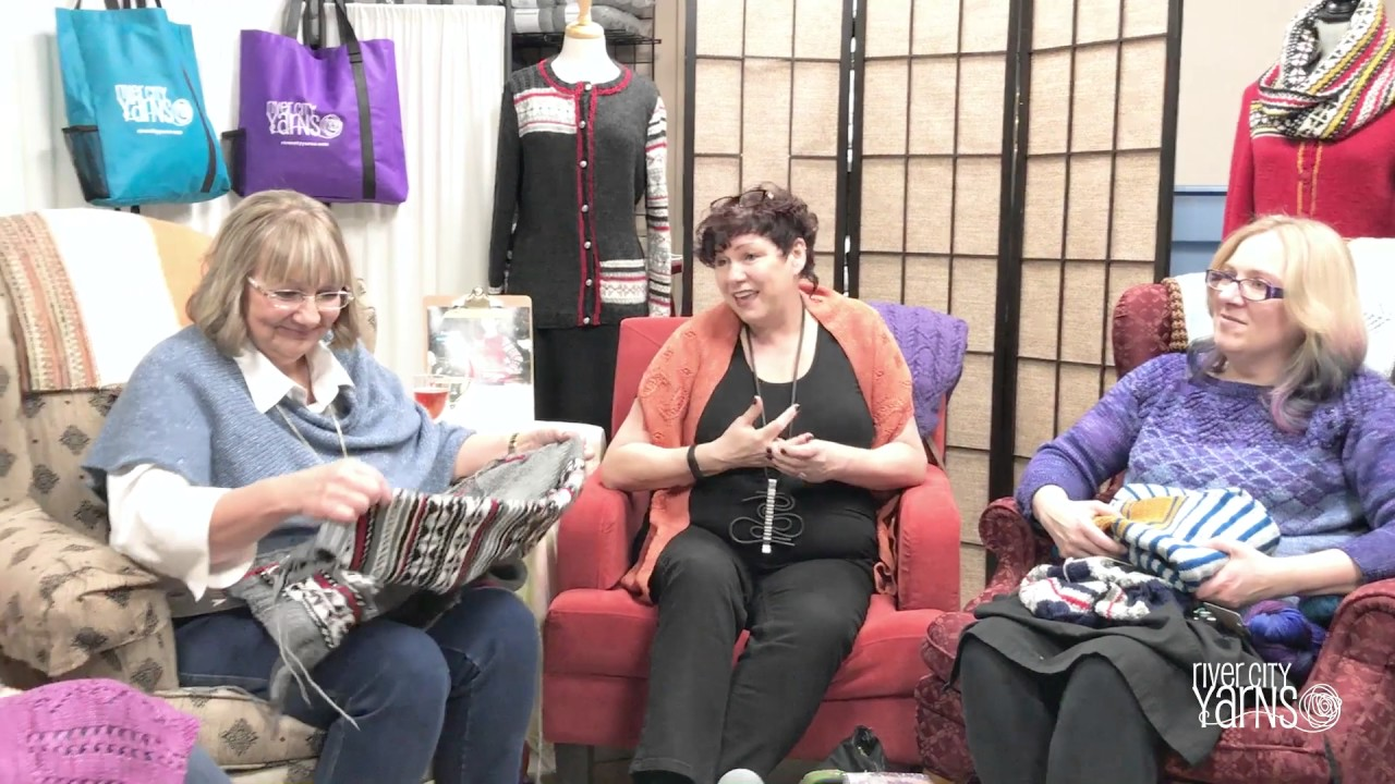 Celebrity Knit Night with Fiona Ellis and the Grocery Girls - YouTube