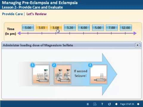 E-learning demo - Managing Pre-eclampsia and Eclampsia