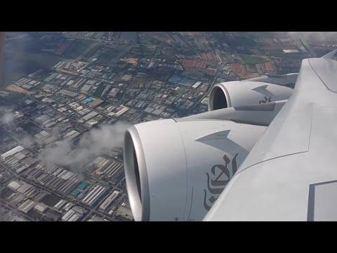 Emirates  |  EK377  | 2 Class A380  |  Bangkok - Dubai  |  Full Flight  HD