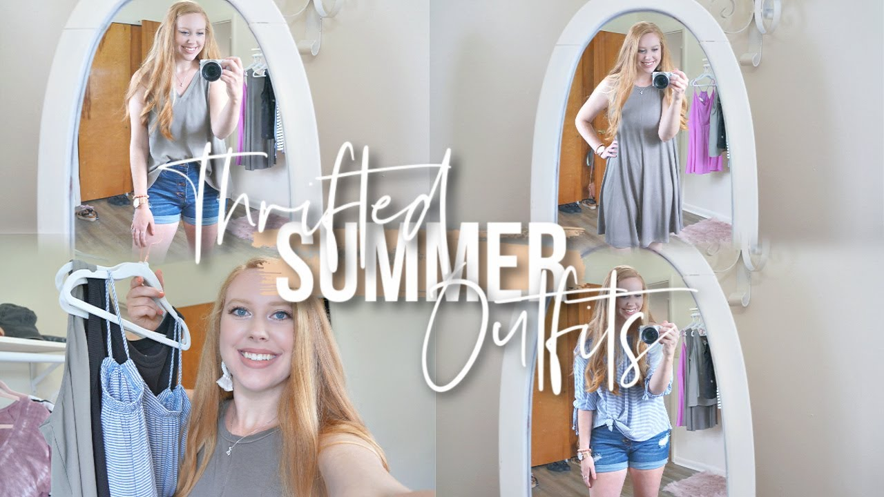 Thrifted Summer Outfits! | Thrift store clothing finds!