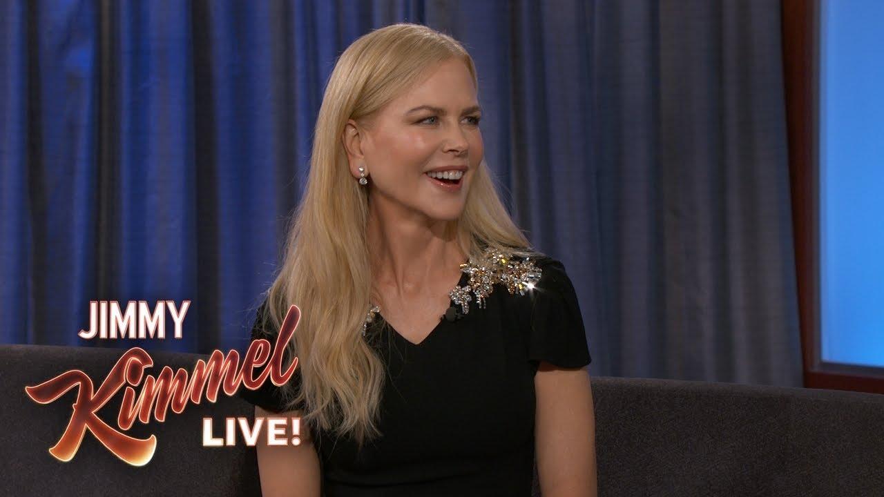 Nicole Kidman on Keith Urban, Kids & Playing Jason Momoa's Mom - Jimmy Kimmel Live