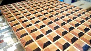 Making 3D end grain cutting board #15