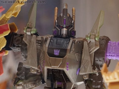 SDCC Transformers Fall of Cybertron BRUTICUS set on display at BotCon 2012