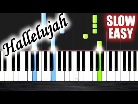 Hallelujah Slow Easy Piano Tutorial By Plutax Youtube
