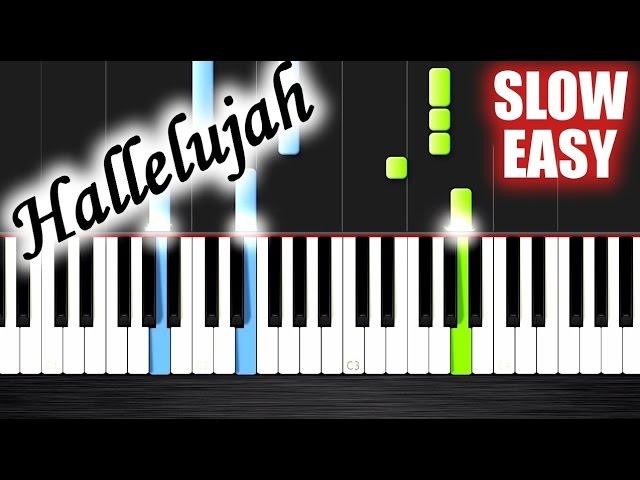Hallelujah Slow Easy Piano Tutorial By Plutax Chords Chordify