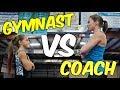 Gymnast VS Coach Gymnastics Strength Challenge  Rachel Marie