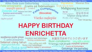 Enrichetta   Languages Idiomas - Happy Birthday