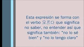 Expresiones básicas en coreano 1