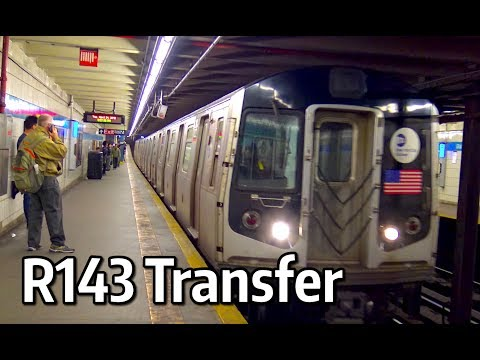 ⁴ᴷ R143 Transfer Train at West 4th Street and Grand Street