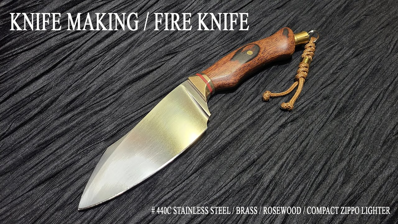 KNIFE MAKING / FIRE KNIFE 수제칼 만들기 #97