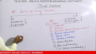 Rules of Trial balance | Accountancy video | Mathur Sir Classes