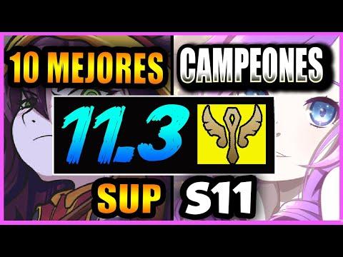 10 MEJORES CAMPEONES SUPPORT S11 | PARCHE 11.3 – PICKS MÁS ROTOS | Tier List S+ | GUÍA SUBIR ELO