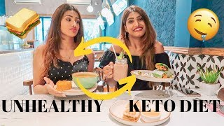 SWITCHING DIETS W/MY SISTER 🥑(KETO!!!) | Aashna Hegde