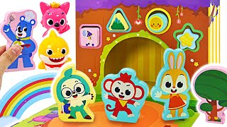 Pinkfong Wooden Toy~! Let's play block with baby shark and Wonder Star | PinkyPopTOY