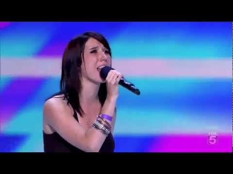 Jillian Jensen sings Who You Are by Jessie J and Demi Lovato cries with performance.