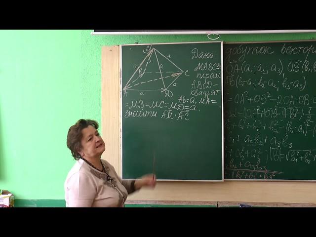 10 клас. Геометрія. Скалярний добуток векторів.