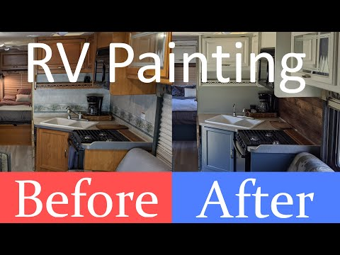 rv-remodel-renovation-/-how-to-paint-cabinets-&-wall-painting