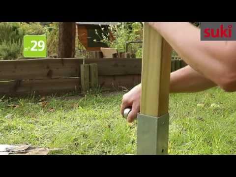 sichtschutz zaun aufbauen und montieren schritt f r schritt funnydog tv. Black Bedroom Furniture Sets. Home Design Ideas