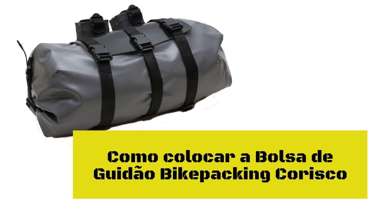 Como colocar a bolsa de guidão bikepacking Calango da Corisco