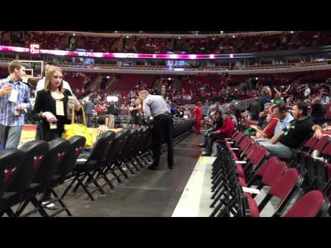 Inside United Centre, Chicago IL (Bulls vs Blazers)