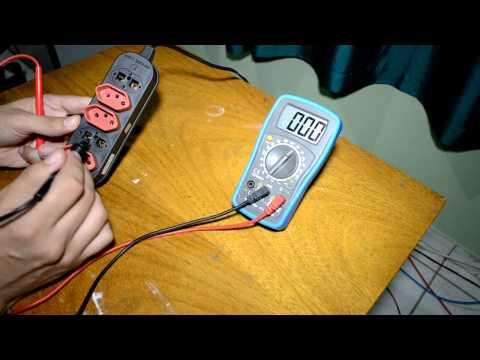 Como testar uma tomada com multímetro (110v ou 220v)