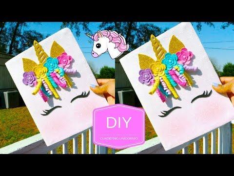 Manualidades Faciles Cuaderno Unicornio Con Fomi Goma Eva Youtube