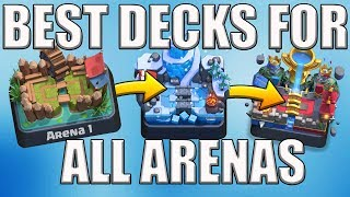 TOP 3 BEST DECKS FOR ALL ARENAS IN CLASH ROYALE Arena 5, 6, 7, 8, 9, 10, 11 Stats Royale