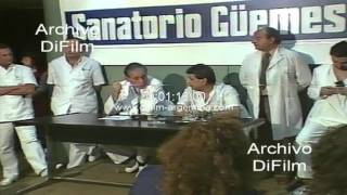 Rene Favaloro realiza doble transplante en el Sanatorio Guemes 1990