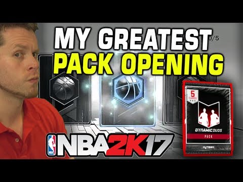 GREATEST PACK OPENING! DYNAMIC DUO SO LIT!! NBA 2K17 LIVE STREAM!