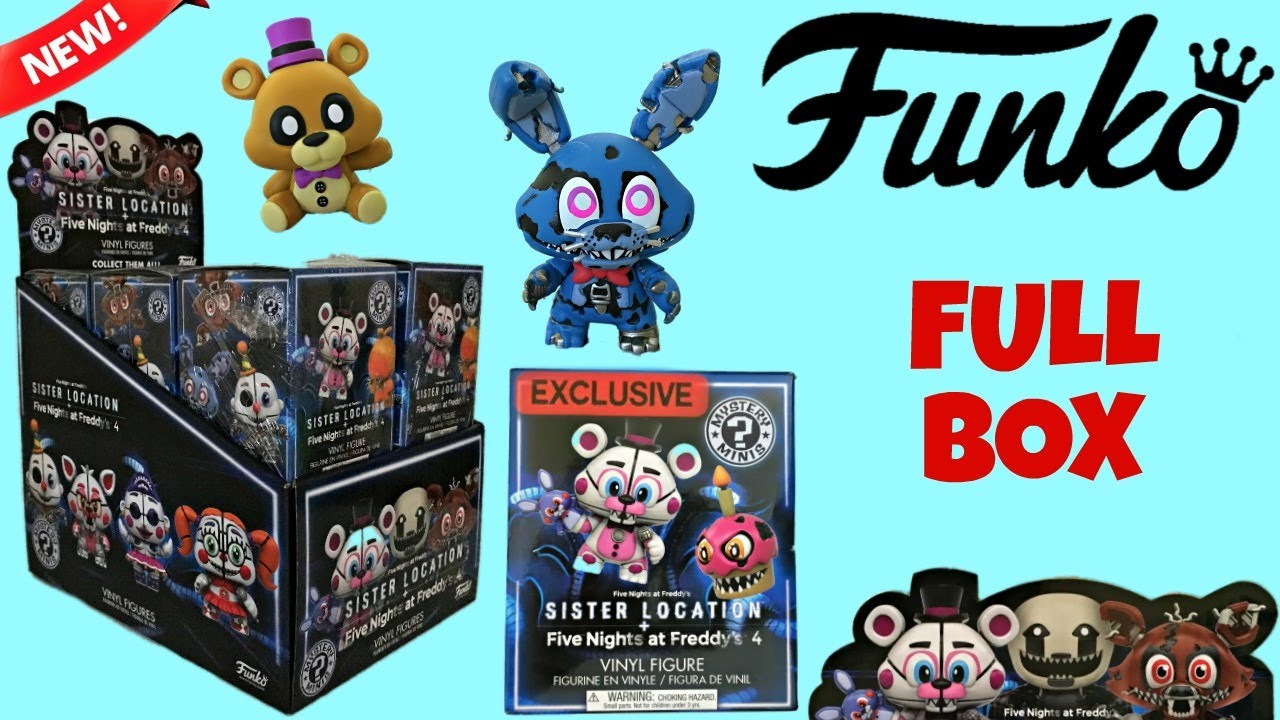 Fnaf Funko Sister Location Amp Nightmare Mystery Minis