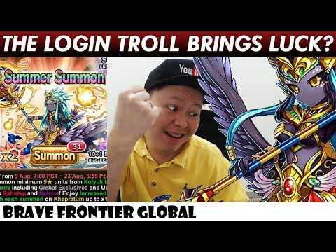 The Login Troll Brings Luck? Rare Summon For Khepratum (Brave Frontier Global)