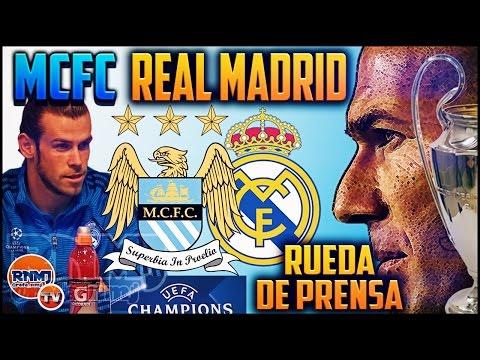 Rueda de prensa Manchester City - Real Madrid | Previa Champions