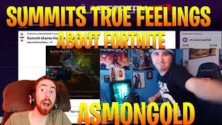 Asmongold Reacts to How Summit1g Really Feels About Fortnite - With Twitch Chat Reaction