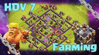Clash of Clans : HDV 7 FARMING - [SPEEDBUILDING]