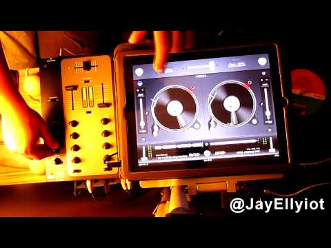 JAY ELLYIOT - Djay app - ipad 2 with mixer - Quick Hip Hop Mix (HD)