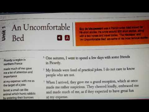 """#Gulmohar Ninth edition class 7th """"An uncomfortable bed ..."""