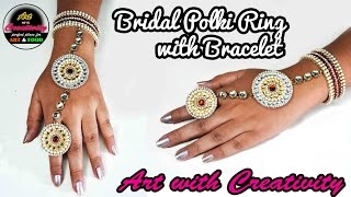 Bridal POLKI Ring with Bracelet | Made up of paper | Art with Creativity 176