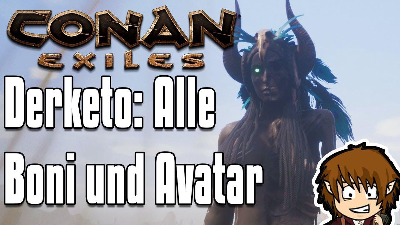Minecraft Kartentisch Rezept.Conan Exiles Guide Derketo Religion Boni Rüstung Avatar