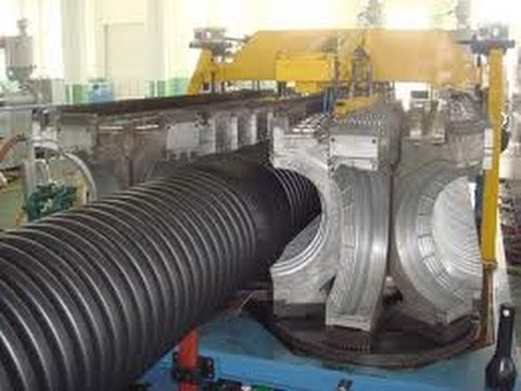 Production Of Corrugated Plastic Pipes On Hd 1200 By