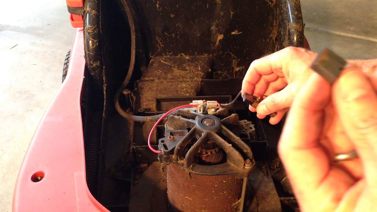 Electric Lawn Mower Motor Replacement Black And Decker Mm850 Wiring Diagram How To Replace Carbon Brushes On An You