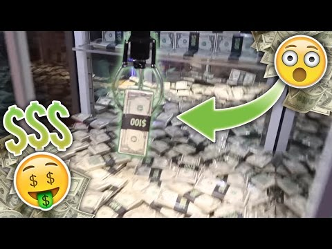 Claw Machine Full Of Money!! Did We Win??