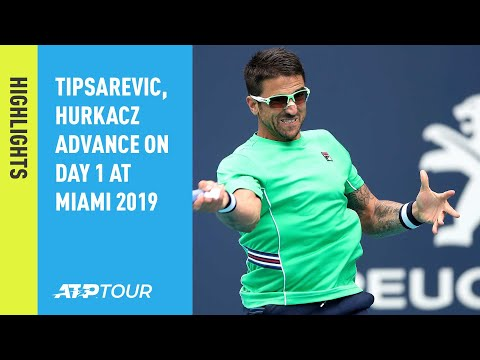 Highlights: Tipsarevic, Hurkacz Advance On Day 1 At Miami Open 2019